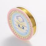 Abalorios de vidrio pintado para hornear hebras, oro, 0.3 mm; 20 m / rollo