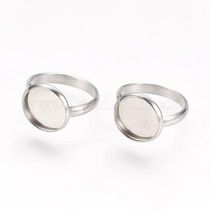 Componentes de anillos de dedo de 304 acero inoxidable ajustablesSTAS-L193-P-12mm-1
