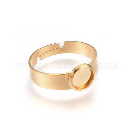 Componentes de anillos de dedo de 304 acero inoxidable ajustablesSTAS-G187-01G-6mm-1-1
