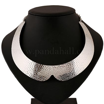 Siver hierro tono collares gargantilla collar de los paresNJEW-V0041-1