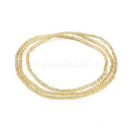 Glass Seed Beads Chain BeltsNJEW-C00007-03-1