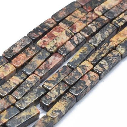 Cuentas de jaspe de piel de leopardo natural hebrasG-F631-E17-1