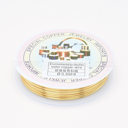Environmental Copper Jewelry Wire CWIR-P001-01-0.6mm-1