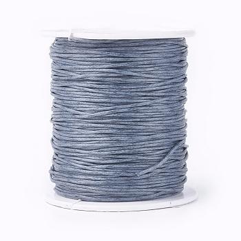 Cordons de fil de coton ciré, grises , 1 mm; environ 100 yards/rouleau (300 pied/rouleau)