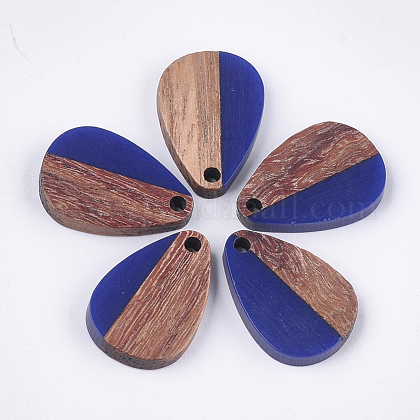 Colgantes de resina y madera de nogalRESI-S358-14A-1