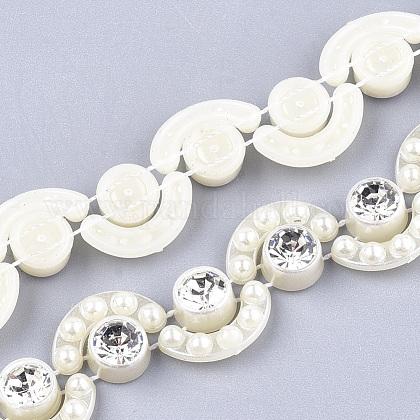 ABS Plastic Imitation Pearl Beaded Trim Garland StrandAJEW-S073-28-1
