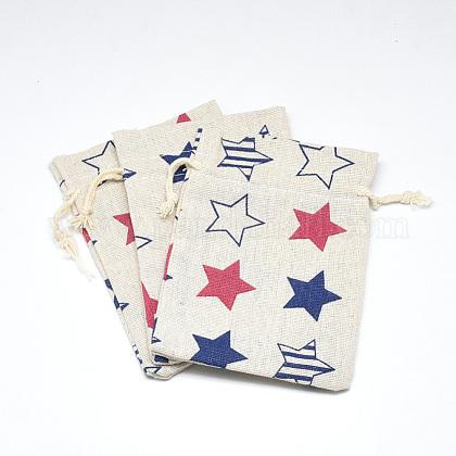 ポリコットン(ポリエステルコットン)パッキングポーチ巾着袋ABAG-T004-10x14-06-1