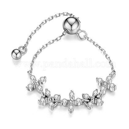 SHEGRACE® Adjustable 925 Sterling Silver Finger Ring ChainJR617A-1