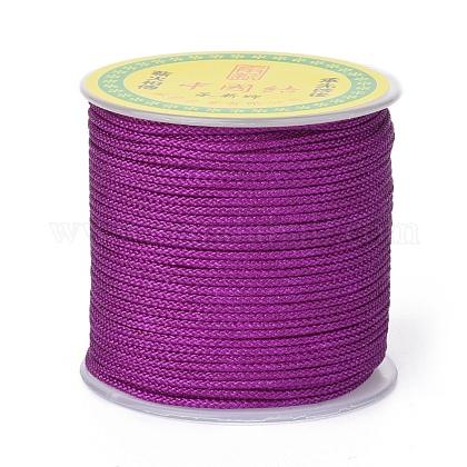 Cordón trenzado de poliéster para hacer joyasOCOR-F011-C06-1