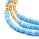 Glass Seed Beads Chain BeltsNJEW-C00010-3