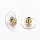 Brass Bullet Clutch Earring BacksEC129-G-2