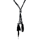 Vintage Statement Necklaces Rope Chain Feather Tassel Pendant Sweater NecklacesNJEW-BB00433-1