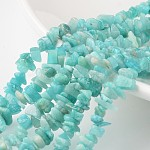 Natural Amazonite Bead Strands, for DIY Jewelry Making, Chips, 4~6x8~12x2~4mm, Hole: 1mm; about 34.6