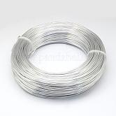 アルミ製ワイヤー, 曲げ可能なメタルクラフトワイヤー, DIYジュエリークラフト作成用, 銀, 10ゲージ, 2.5mm; 35m / 500g(114.8フィート/ 500g)