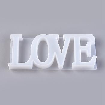 食品グレードのシリコーン型  フォンダン型  DIYケーキデコレーション用  チョコレート  キャンディ  UVレジン&エポキシ樹脂ジュエリー作り  単語の愛  ホワイト  85x205x21.5mm