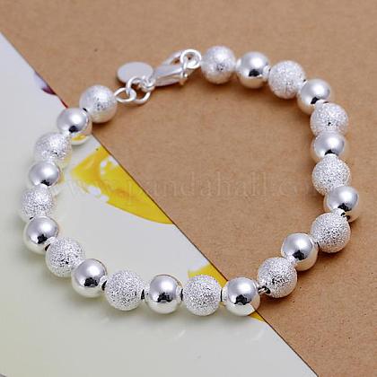 8mm Brass Ball Chain Bracelets for WomenBJEW-BB12486-1