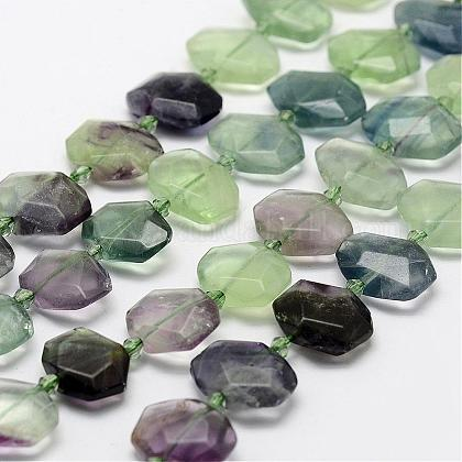 Natural Fluorite Beads StrandsG-F474-01-1