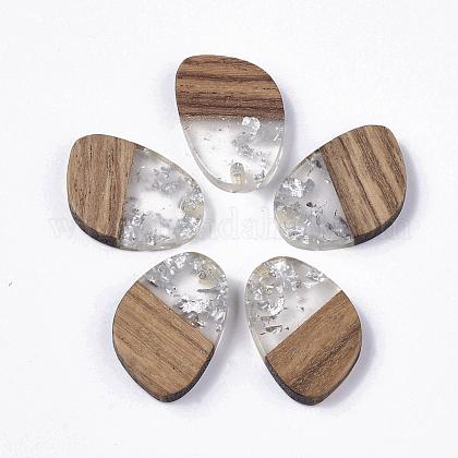 Colgantes de resina transparente y madera de nogalRESI-Q210-006A-A02-1