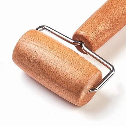 ダブルヘッド木製ローラーTOOL-WH0047-04-1