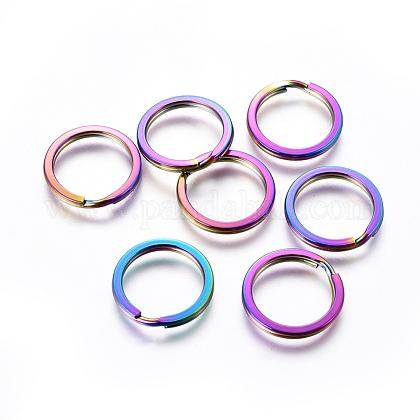 304 Stainless Steel Split Key RingsSTAS-G201-10B-M-1