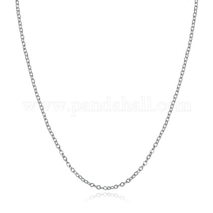 925 Sterling Silver Chain NecklacesNJEW-BB30129-18-1
