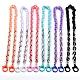 Collares personalizados de cadena de cable de plástico acrílico y ccbNJEW-JN02824-1