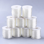 Round Elastic Crystal Thread, Stretchy Bracelet String, Clear, 1mm; about 100m/roll