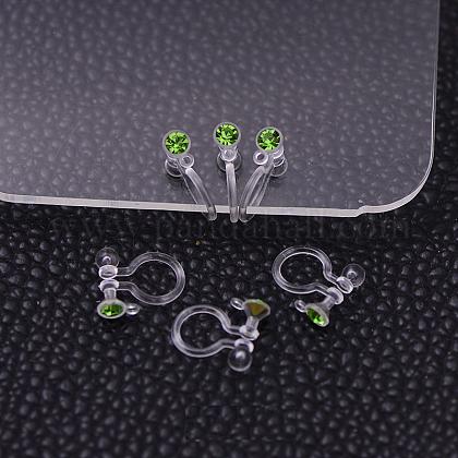 Plastic Clip-on Earring FindingsX-KY-P007-M03-1