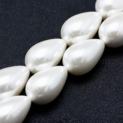 Electroplate Shell Pearl Beads StrandsBSHE-G010-14x20mm-01-1