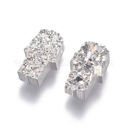 Perlas de resina de piedras preciosas druzy imitaciónRESI-L026-A04-1