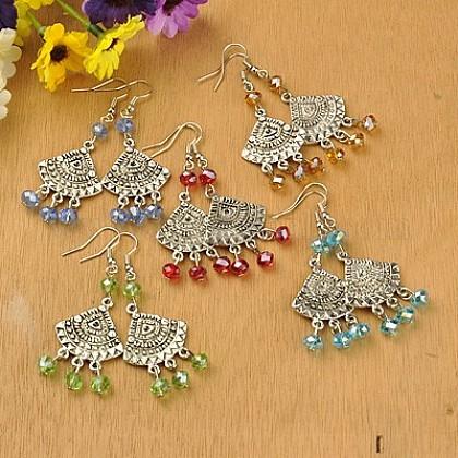 Tibetan Style Chandelier EarringsEJEW-JE00538-1
