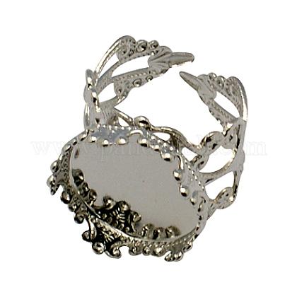 Ajustes de cabujón con anillo de latónX-KK-G020-P-1