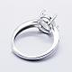 925 Sterling Silver Finger Ring ComponentsSTER-G027-18P-2