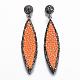 Leather Dangle Stud EarringsEJEW-K075-H04-1
