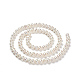 Hebras de perlas de perlas de agua dulce cultivadas naturales de papaPEAR-E007-4-5mm-2