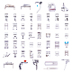 Máquina de coser doméstica prensatelas kit de juego de piesTOOL-BC0008-07-3