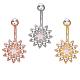 Brass Piercing JewelryAJEW-EE0006-83-1