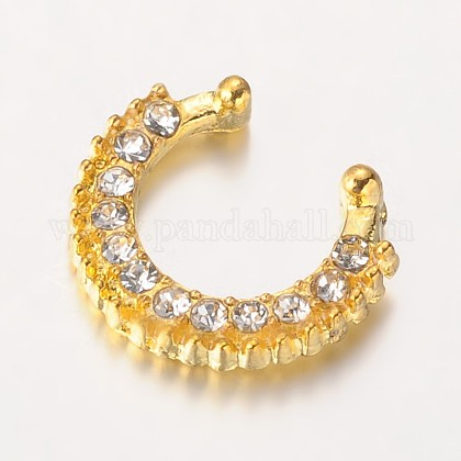 Alloy Rhinestone Nose Studs Nose Piercing JewelryAJEW-L055-04G-1