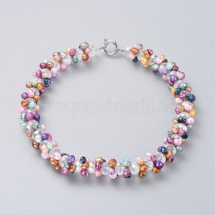 Collares de abaloriosNJEW-JN02558-1