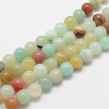 Natural Amazonite Beads Strands G-F415-8mm-1