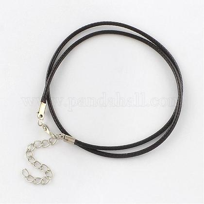 Waxed Cotton Cord Necklace MakingMAK-S032-2mm-113-1