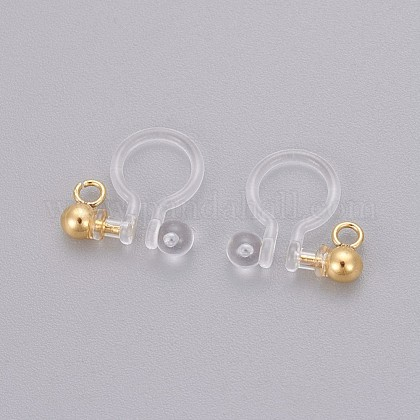 Transparent U Type Painless Prevent Allergy Resin Ear Clip X-KY-L005-02G-1