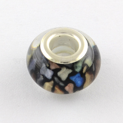 Large Hole Acrylic European Beads OPDL-Q129-200A-1