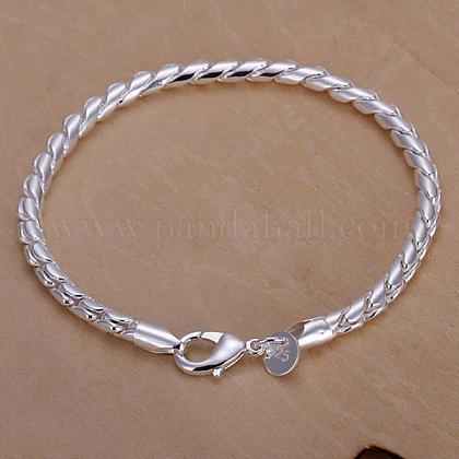 Unisex Brass Curb Chain BraceletsBJEW-BB12573-1