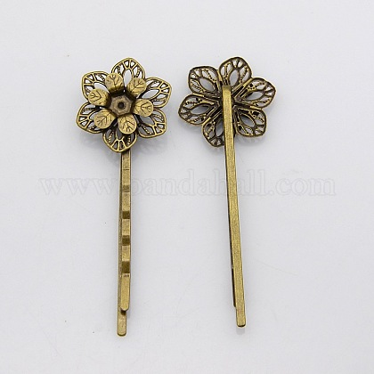 Vintage Iron Hair Bobby Pin FindingsIFIN-J039-18AB-NF-1