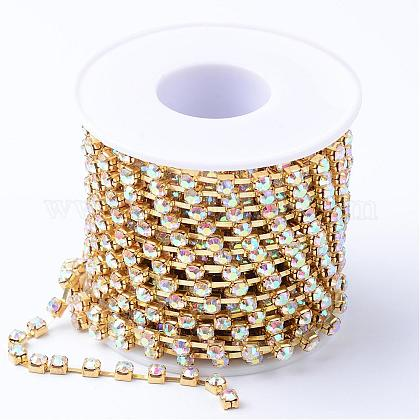 Cadenas de strass Diamante de imitación de bronceCHC-T002-SS10-02C-1