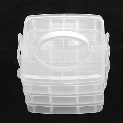 Contenedores de abalorios de plásticoCON-S034-1