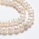 Hebras de perlas de perlas de agua dulce cultivadas naturales de papaPEAR-E007-5-6mm-3