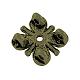 De aleación de estilo tibetano de varias vueltas enlaces flor del cirueloX-TIBE-0223-AB-FF-2