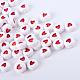 Opaque Acrylic Heart Letter BeadsX-SACR-Q126-07B-1